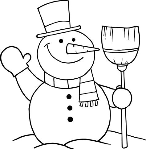simple snowman coloring page an improved variety of snowman coloring pages