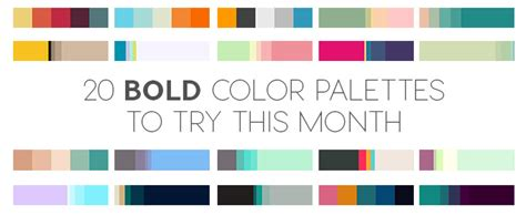 bold color 20 bold color palettes to try this month august 2015