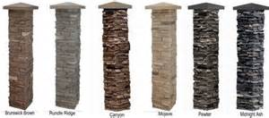 Faux stone post covers