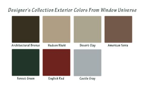 window colors replacement windows types models and styles window