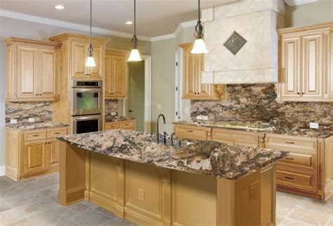 maple kitchen cabinets with granite countertops the right granite countertops for your maple cabinets