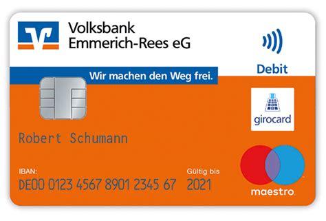 volksbank die bank neue vr bankcard volksbank emmerich rees eg