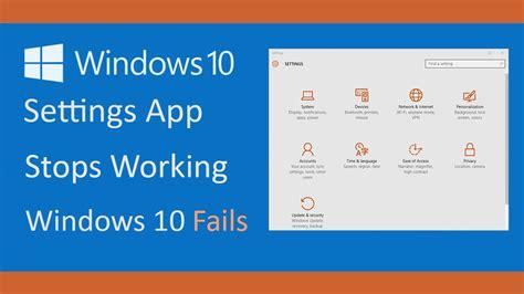 windows 10 photo app tutorial settings app on windows 10 stops working ms settings error