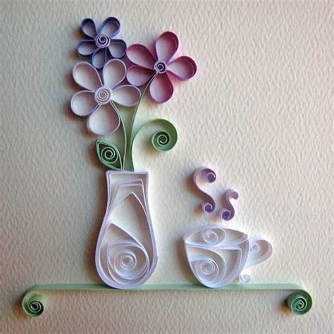 Paper Craft Design - quilling sanat莖 214 茵renmen
