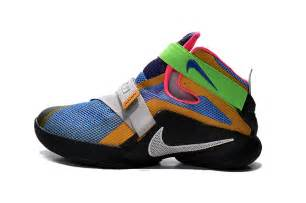 colorful lebrons nike lebron soldier 9 what the lebron multi color black
