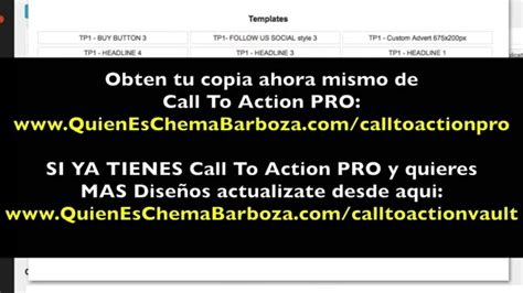 call to action pro actualizacion para tener mas templates