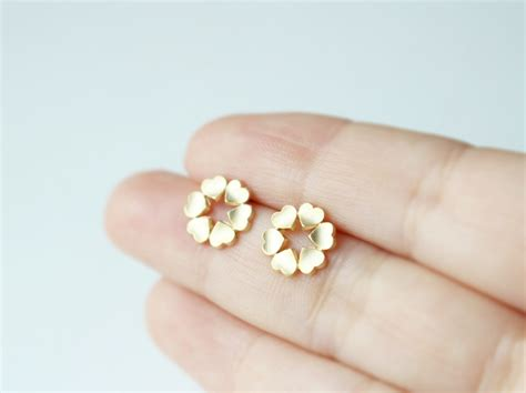 earrings in gold sterling silver posts simple