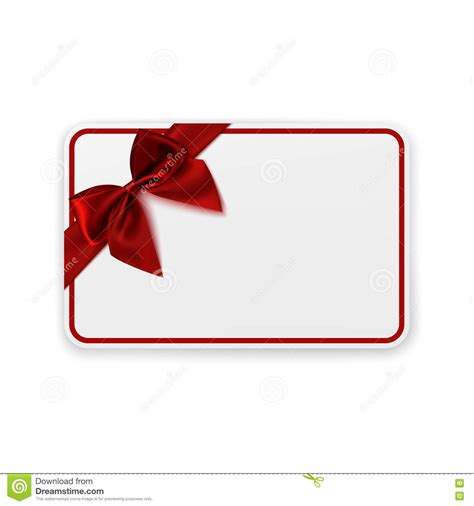 present card template white blank gift card template stock vector illustration 78407427