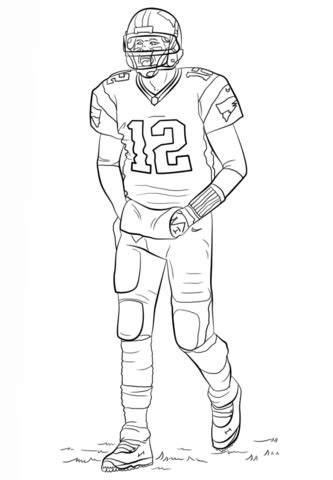 tom brady coloring page football coloring pages sports