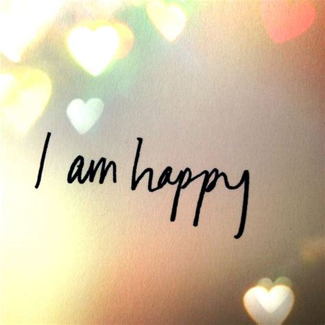 i am happy lovely picture photo with hearts bokeh style