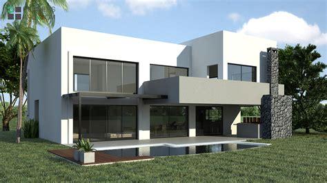 imagenes de galerias minimalistas casa country renders arquitectura
