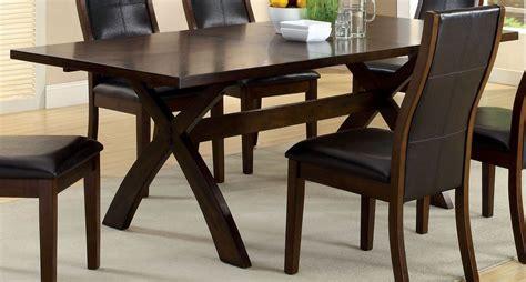 Toronto Dark Oak Rectangular Extendable Trestle Dining Dining Room Table Toronto
