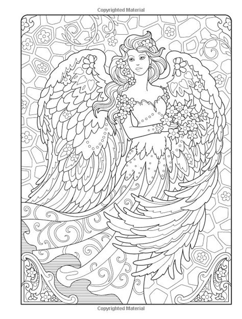 creative haven beautiful angels coloring book adult