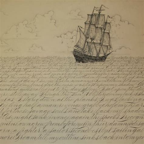 boat waves drawing ship sketch with waves of letters art pinterest