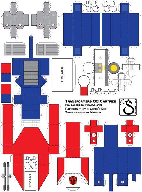 Transformers Papercraft - templates on paper transformers deviantart