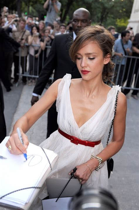 Alba Goes Chanel by Alba Cleavage Candids At Chanel Fashion Show In