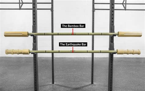 earthquake bar bandbell bars earthquake bamboo barbell rogue fitness