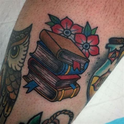 tattoo animal stack 30 scholarly tattoos for booklovers 19 oozes