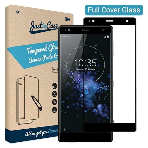 Temper Glass Sony Al Type just in cover tempered glass sony xperia xz2 zwart