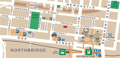 The Shed Northbridge by Map Of Northbridge The Shed S Guide To Perth