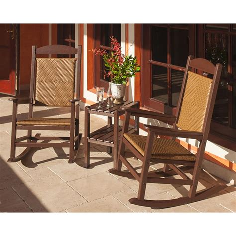 woven rocking chair presidential woven wicker outdoor rocking chair polywood
