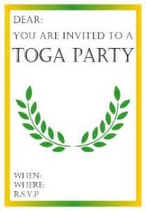 free theme invitations print toga invitations