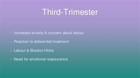 mood swings in third trimester pregnancy as a psychological event