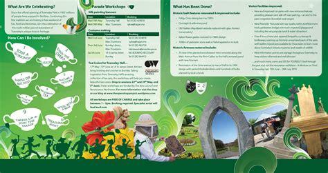 leaflet design blackburn towneley tea party leaflet the open shop project by