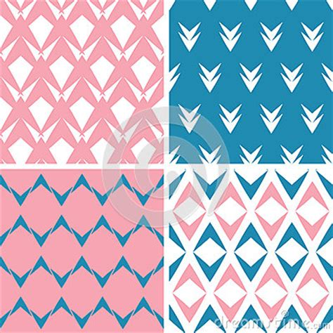 scheme pattern matching library four abstract pink blue arrows geometric pink seamless