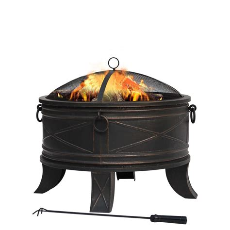 home depot firepits hton bay quadripod 26 in pit ft 51161 the