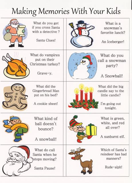 printable christmas joke cards christmas kids jokes christmas decore
