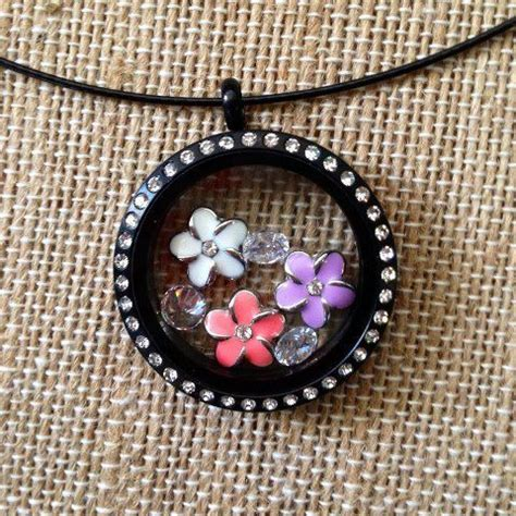 Origami Owl Black Locket - origami owl black locket with crystals and plumeria