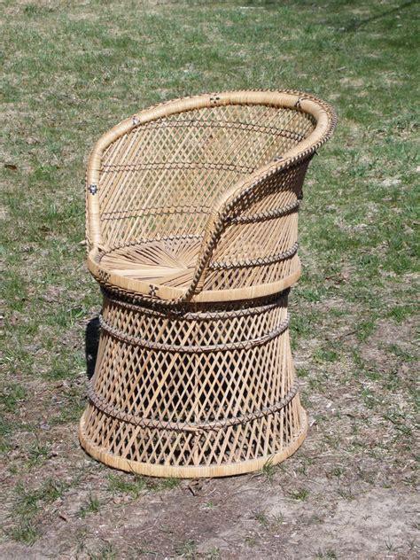 wicker barrel chair vintage woven rattan wicker barrel back tub chair ebay