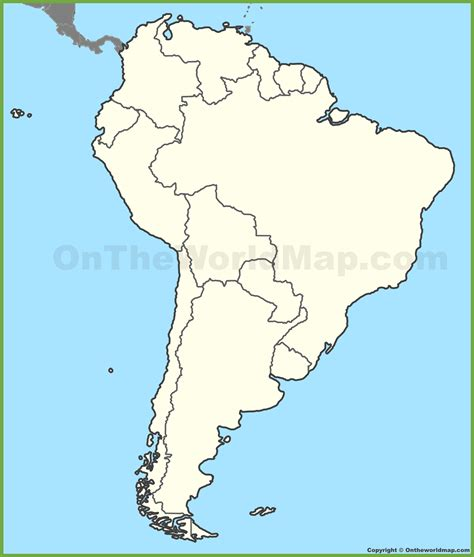 and south america map south america maps inside political map of