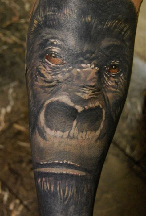 gorilla tattoo damon conklin genius seattle wa color