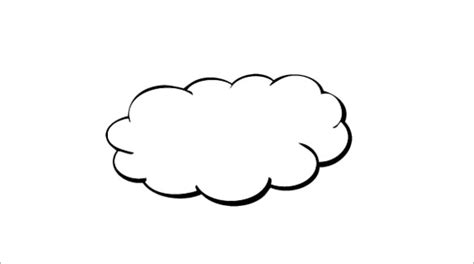 free clouds template for card 5 printable cloud templates doc pdf free premium