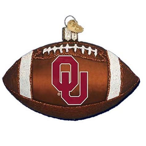 oklahoma university football ornament old world christmas