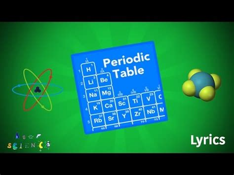 lyrics the new periodic table song all credit to