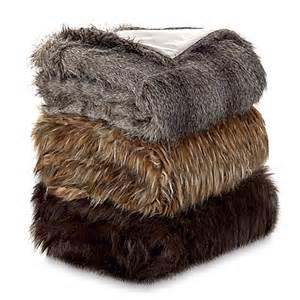 faux fur wolf throw blanket bed bath beyond