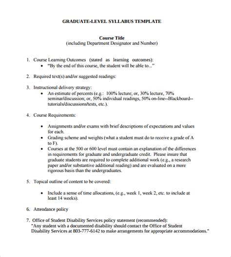 class syllabus template targer golden dragon co