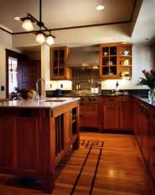 Craftsman Style Flooring by Designing Craftsman Kitchen Using Curved Shelve Round