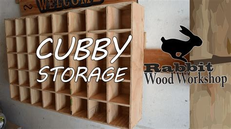 Cubby storage Easy build.   YouTube