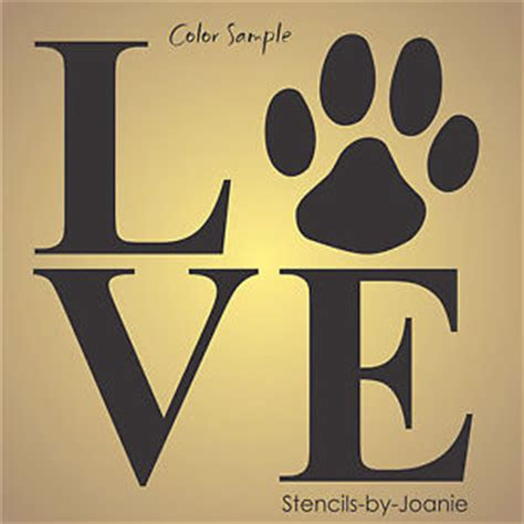 home stencil stencil love paw print animal pet dog cat puppy country