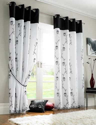 black and white living room curtains new home designs home curtain designs ideas