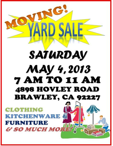 moving flyer template moving sale clip 37