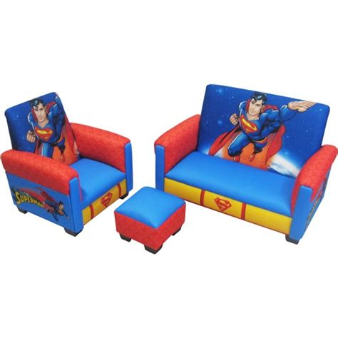 superman flip sofa superman deluxe toddler sofa chair and ottoman totally