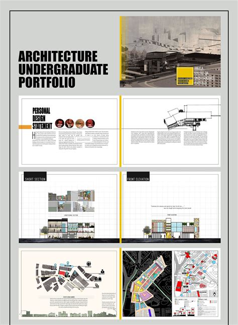 architecture portfolio templates 11 behance end of year undergraduate portfolio on behance
