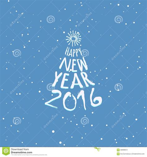 happy new year card template microsoft happy new year blue greeting card template stock vector