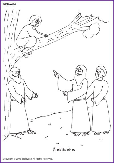 free coloring pages jesus and zacchaeus coloring zacchaeus korner biblewise