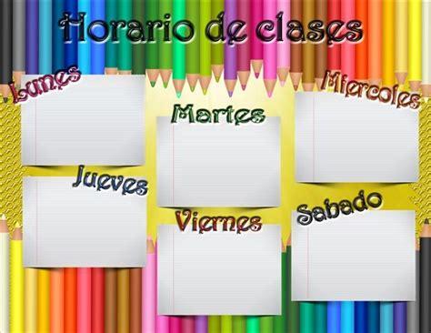 horario de clases para imprimir horario de clases listo para descargar e imprimir frames